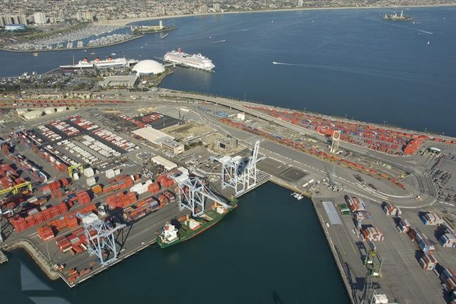 A new California law would hold retailers liable for working with port trucking companies that have unpaid judgements related to driver misclassificaiton lawsuits.  - Photo via Port of Long Beach