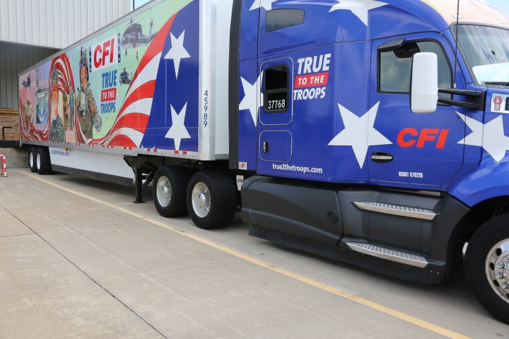 CFI has unveiled new themed trucks to honor the military veterans and women who drive in its fleet. 