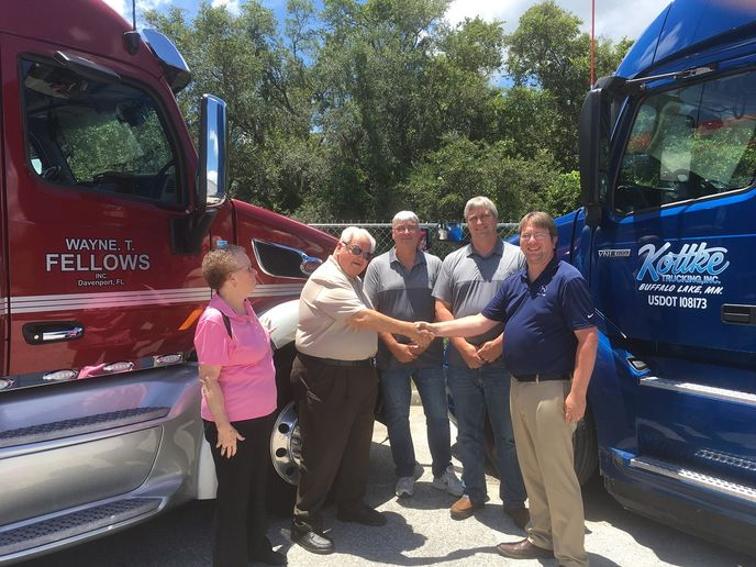 Kottke Trucking has acquired Davenport, Florida-based Wayne T. Fellows, a trucking company that offers refrigerated less-than-truckload and truckload services.  - Photo courtesy Kottke Trucking