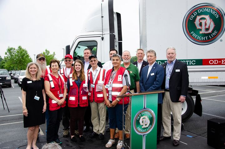 Old Dominion Freight Line made an annual pledge of $250,000 to the American Red Cross Disaster Responder Program.