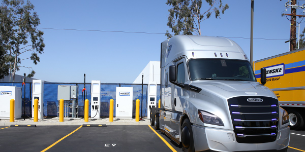 The chargers connect directly to a commercial truck's battery charging system, providing a DC...