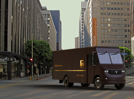 UPS is collaborating with Thor Trucks on a new fully electric Class 6 delivery truck.