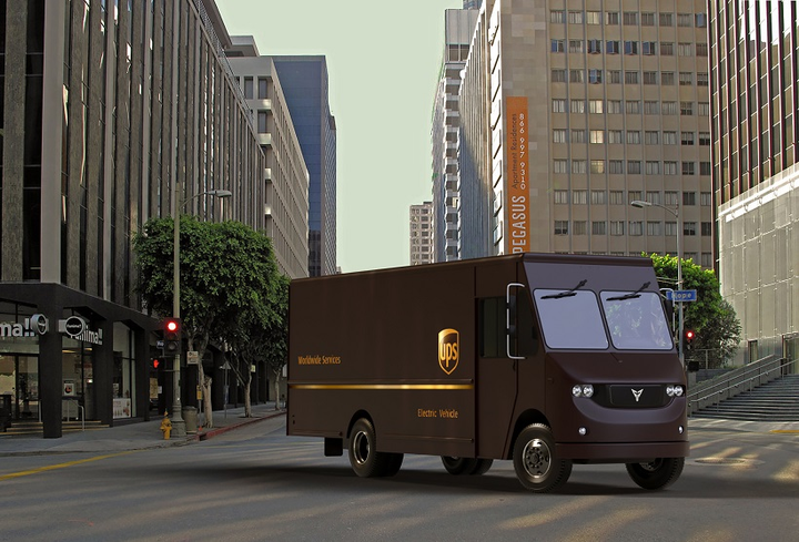 UPS is collaborating with Thor Trucks on a new fully-electric Class 6 delivery truck.  - Image courtesy UPS
