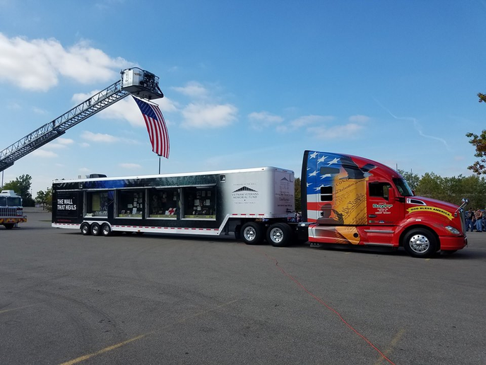 Baylor is one of the companies providing transportation for The Wall That Heals, which will make an appearance at Baylor headquarters during National Truck Driver Appreciation Week.  - Photo courtesy Vietnam Veteran's Memorial Fund