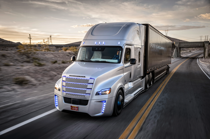 Daimler Trucks is creating an Automated Truck Research Center to develop and test autonomous truck technologies like the type seen in the company's Inspiration Truck (pictured) from 2015. 