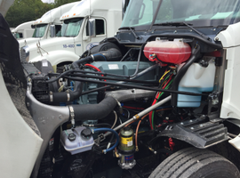 Glider kits (this one from Freightliner) allow older powertrains to be used with new, aerodynamic cab bodies.