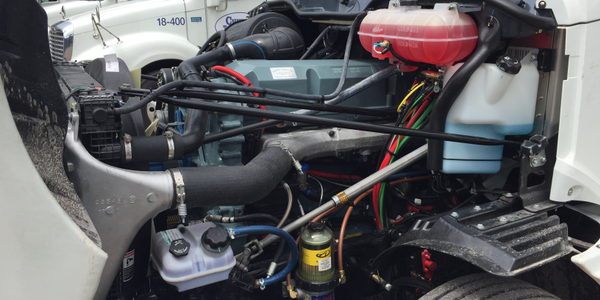 Glider kits (this one from Freightliner) allow older powertrains to be used with new,...