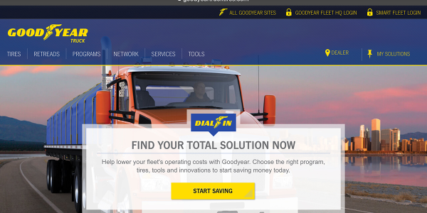 A new, online tire purchasing platform launched by Goodyear will allow small fleets to buy tires...