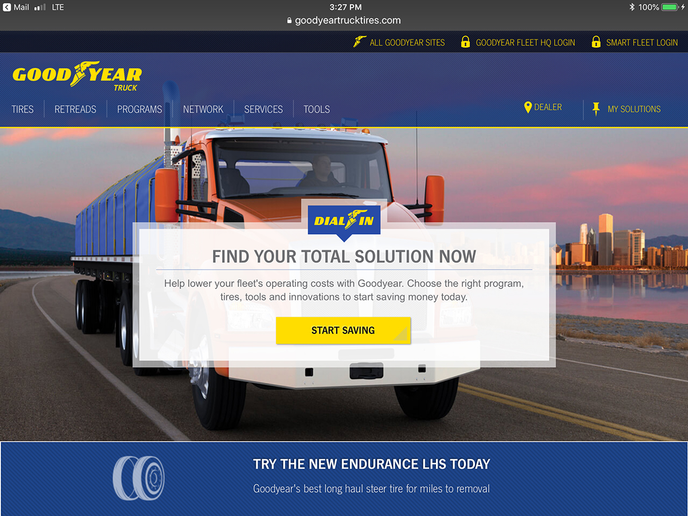 A new, online, tire purchasing platform launched by Goodyear will allow small fleets to buy tires from anywhere and schedule a local installation within 24 hours of making the purchase.  - Photo: Goodyear