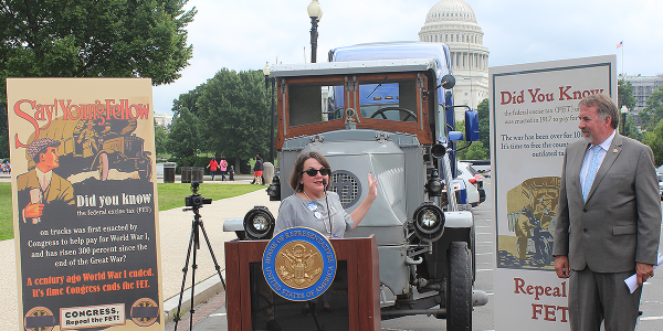 ATD Chairwoman Jodie Teuton spoke at the Modernize the Truck Fleet rally in Washington, D.C.,...