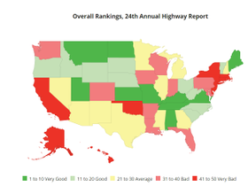 It's Not Just Your State, Overall U.S. Road Conditions Are Getting Worse