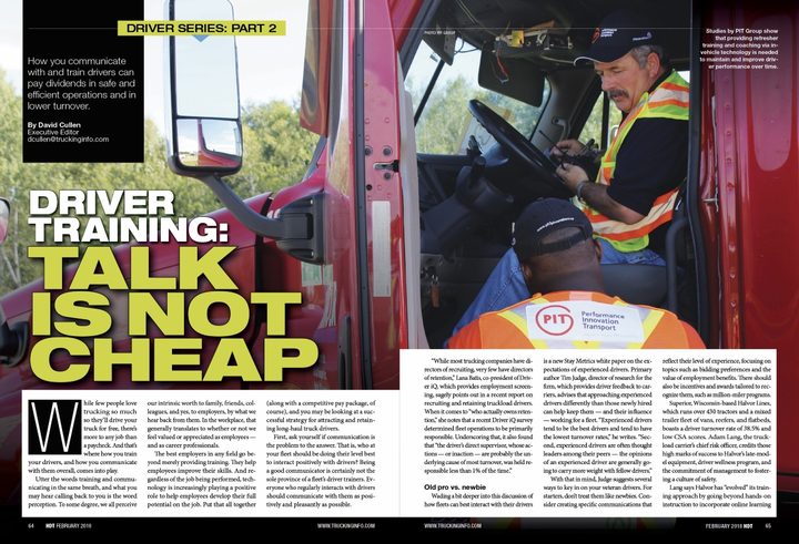 Heay Duty Trucking was named a Neal finalist for its three-part series on driver-managementissues and wasalso named a finalist for three articles providing technical how-to content.  - Photo: HDT