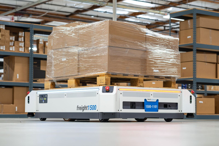 Honeywell says its new partnership with Fetch Robotics will allow it to offer a warehouse robots that can adjust routes in real time, unlike automated guided vehicle systems. Photo: Honeywell