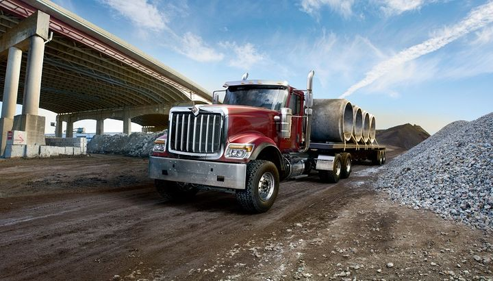 International has made Bendix air disc brakes available standard on HX Series and HV Series severe service truck models.