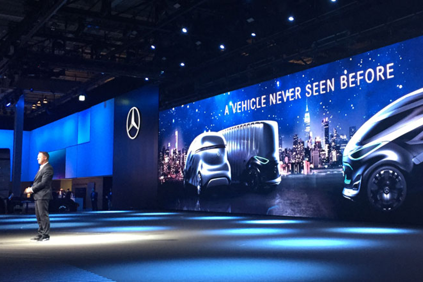 Headline-generating projects like these autonomous concept vans from Mercedes help Daimler gain...