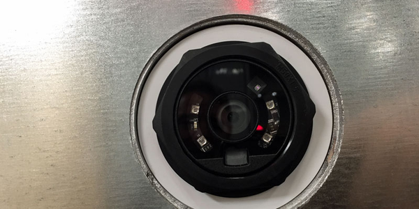 ID Systems' new camera-based LV-710 sensor is mounted right in the trailer or container door to...