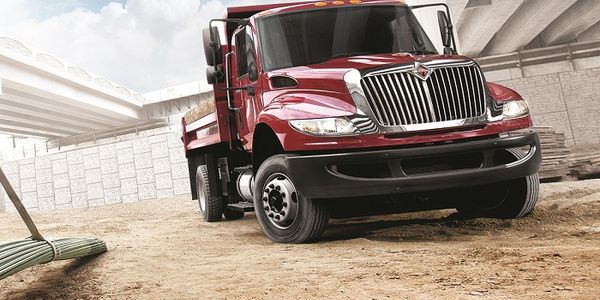 The International DuraStar (pictured) is one of several models included in Navistar's safety...