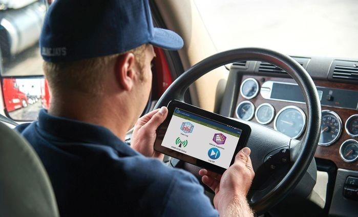 The Trucking Alliance wants intrastate drivers to be required to use electronic logging devices to track their hours.  - Photo courtesy J.J. Keller