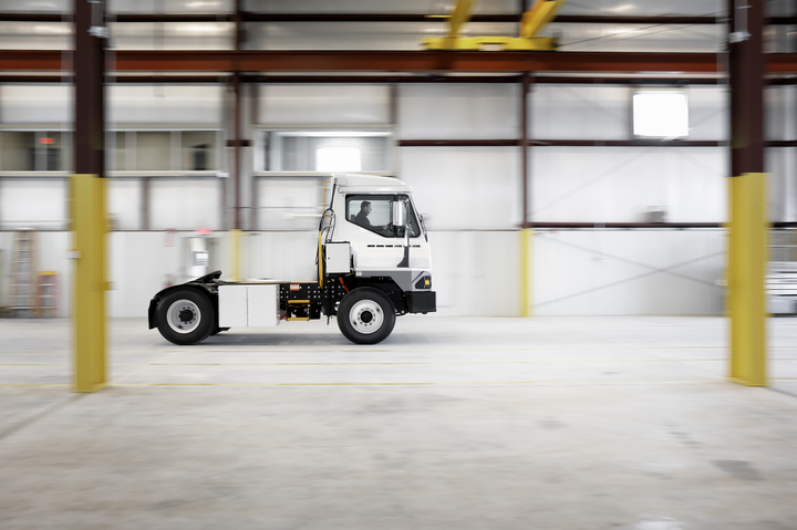 Kalmar has produced a battery-electric verison of its T2 terminal tractor. Photo: Kalmar