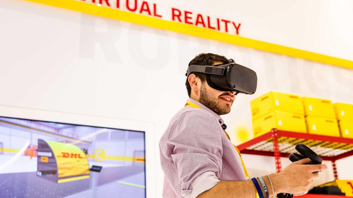 Augmented and vritual reality are among the technologies being used in logistics.  - Photo: DHL