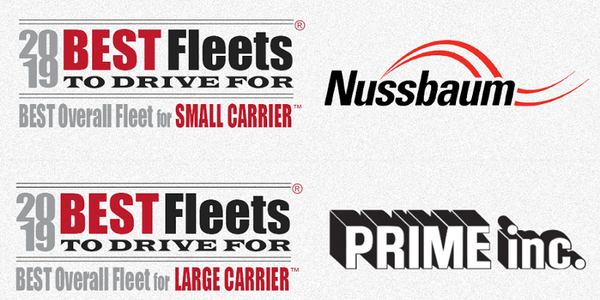 Nussbaum Transportation and Prime Inc., were named the Best Overall Fleet in their respective...