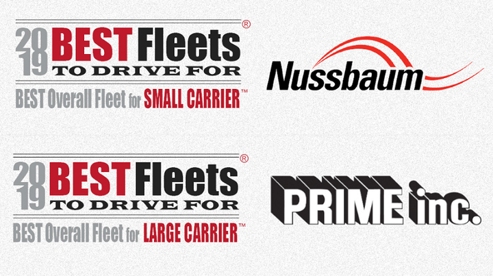 Nussbaum Transportation And Prime Inc Were Named The Best Overall Fleet In Their Respective
