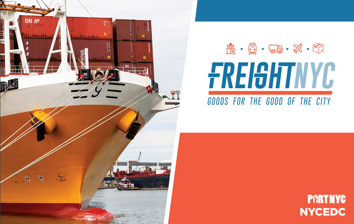 The $100 Million Freight NYC plan includes investment in new distribution, rail, and maritime facilities, as well as a push for the use of cleaner trucks. 
