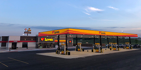 Love's Travel stops has opened its ninth location in Boyce, Louisiana. Photo: Love's Travel Stops