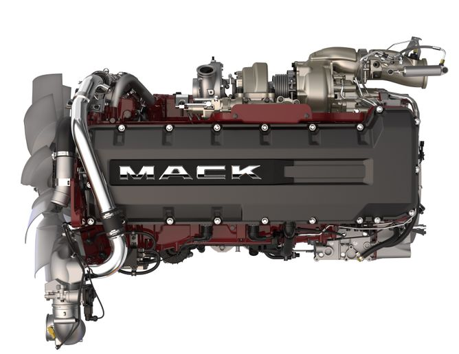 MackMP 8HE 13-liter engine  - Photo: Mack Trucks