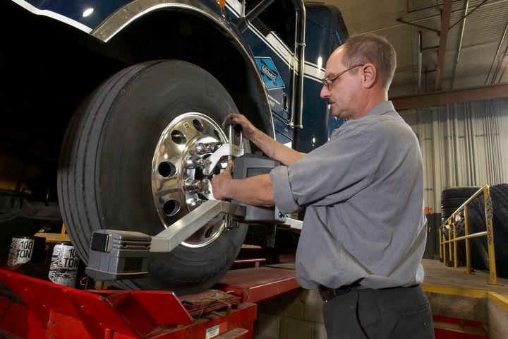 """Too many truck owners have been educated in the tire shop mentality of """"set the toe and let it go,"""" says ACOFAS.  - Photo courtesy Michelin"""