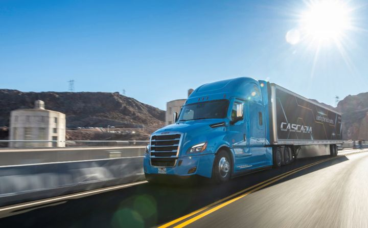 Freightliner's new Cascadia now features Level 2 automation.  - Photo courtesy Daimler Trucks North America