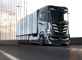 """Nikola Tre electric cabover tractor was designed """"in response to widespread interest from European customers."""""""