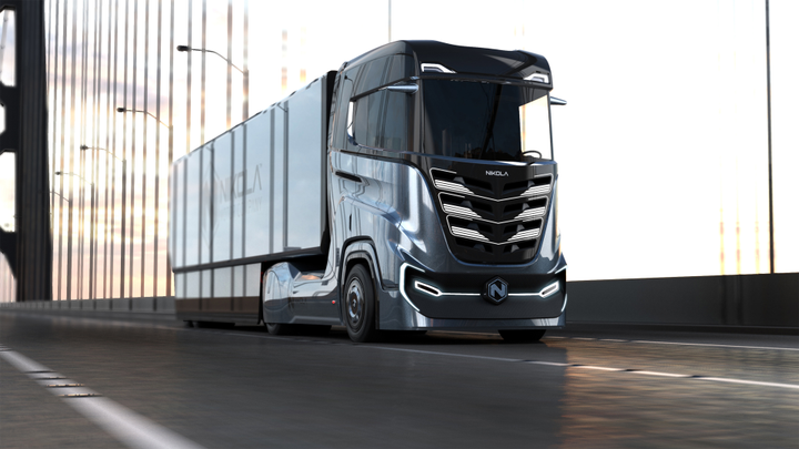 """Nikola Tre electric cabover tractor was designed """"in response to widespread interest from European customers.""""  - Image: Nikola Motor Company"""