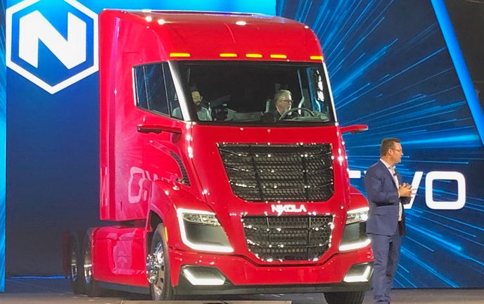 Nikola Two being unveiled in April at an event in Scottsdale, Arizona. 