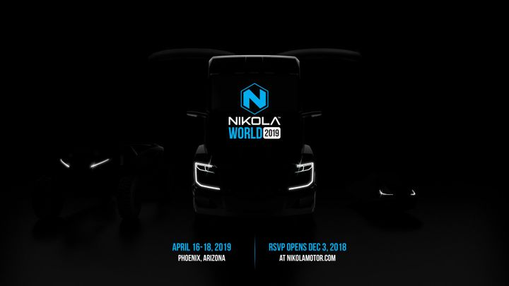 Nikola Motors is planning a big unveiling and demonstration event of its hydrogen-electric truck for next April.  - Photo courtesy Nikola