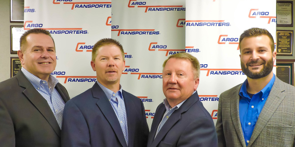 Cargo Transporters leadership personnel, (left to right) Dennis Dellinger, Jerry Sigmon Jr.,...