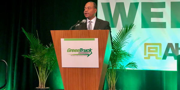 At the Green Truck Summit, Carlton Rose, president of global fleet maintenance and engineering...