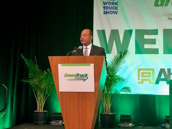 At the Green Truck Summit, Carlton Rose, president of global fleet maintenance and engineering at UPS, said the desire for clean and quiet trucks is growing and pointed out how the global delivery giant has already made substantial investments in that green future.  - Photo: David Cullen