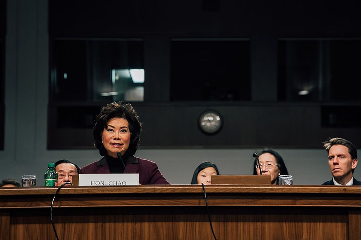 Transportation Secretary Elaine Chao appointed a 15-member advisory committee as part of the Trump Administration's efforts to fight human trafficking.