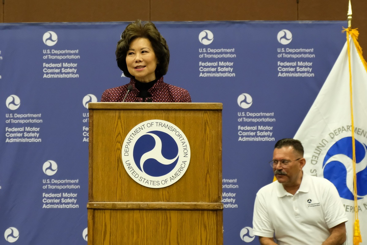 Transportation Secretary Elaine Chao announced that a notice of proposed rulemaking on hours of service reform had been sent to the Office of Budget Management.