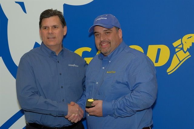 Goodyear is accepting nominations for its Highway Hero Award. (Pictured) last year's winner Frank Vieira, who saved a motorist who suffered a severe injury after crashing his vehicle in the back of a truck.