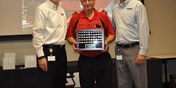Truck driver Malcom Bryant was recognized by Southeastern Freight Lines for 50 years of...
