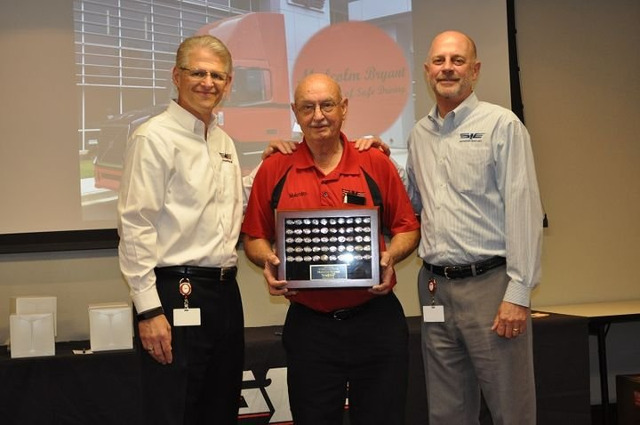 Truck driver Malcom Bryant was recognized by Southeastern Freight Lines for 50 years of accident-free driving, during the company's annual Safety and Service Awards.
