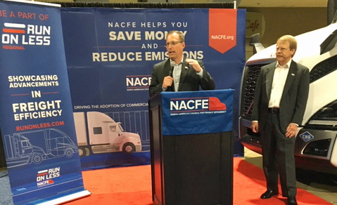 NACFE's Mike Roeth outlines the regional report findings at ACT Expo.  - Photo by Chris Brown