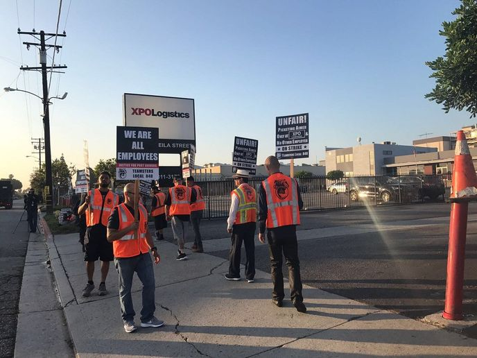 A driver strike, organized by Justice for Port Drivers and the Teamsters union, has been planned for Oct. 1, protesting the improper use of independent contractors at the ports of Southern California.  - Photo via Justice for Port Drivers