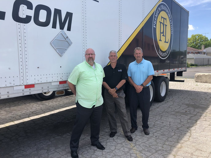 Premium Transportation Logistics' Senior Management Team, President, Jeff Curry, longtime PTL Operations Manager, Keith Avery, and expedited transportation sales veteran, Brad Kelley.  - Photo courtesy PTL