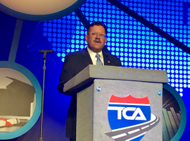 FMCSA's Martinez tells TCA members how the ongoing rollout of the ELD mandate is helping the agency formulate a proposal to change the HOS rule.