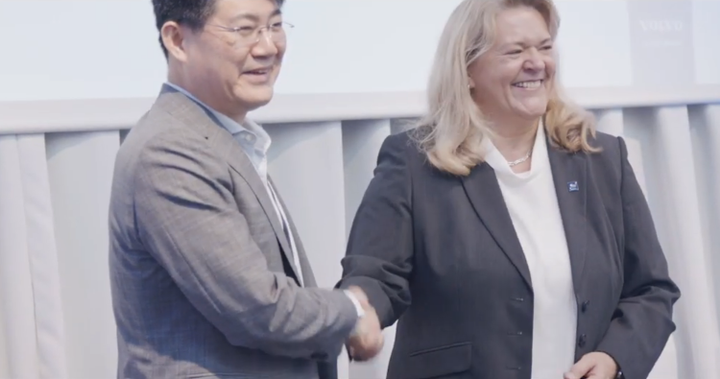 Volvo Group and Samsung SDI, the battery manufacturing subsidiary of Samsung, have entered into a strategic alliance to develop battery packs for Volvo Group's electric trucks.  - Screenshot via Volvo Group