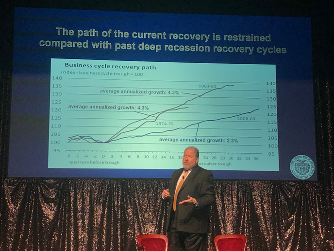 Slow and steady: The economic recovery may have been more restrained than historically, but it's also on its way to setting a record for the longest economic expansion in the country's history.  - Photo by John G. Smith (courtesy Today's Trucking)
