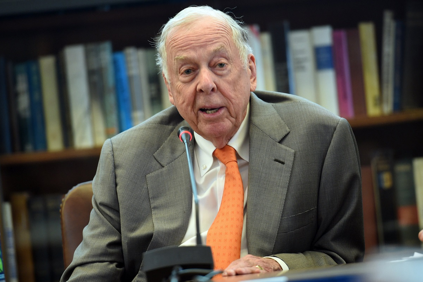 T. Boone Pickens Jr., famous oil tycoon turned evangelist for alternative fuels and American...
